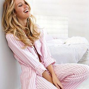 PINK VS Striped 2 Piece Sleep Pajama Set 1843